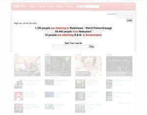 Last.fm homepage