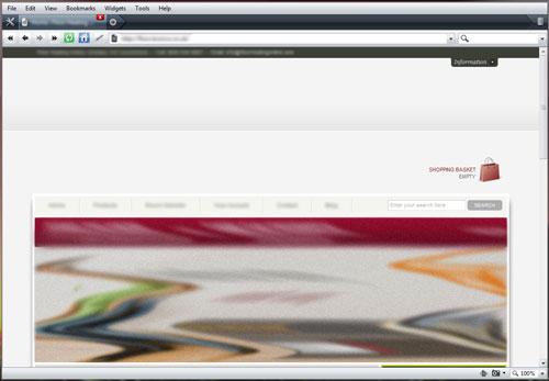 Screenshot of Opera